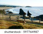 View Of Bandon Oregon Beach...