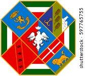 lazio coat of arms | Shutterstock .eps vector #597765755