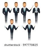 set of businessman character... | Shutterstock .eps vector #597770825