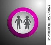 toilet door plate. men and... | Shutterstock .eps vector #597778829