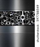 background metallic gears ...   Shutterstock . vector #597788549