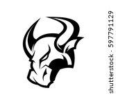 furious bull head sport vector... | Shutterstock .eps vector #597791129