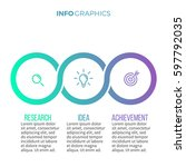 business infographics. timeline ... | Shutterstock .eps vector #597792035