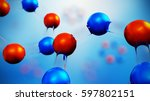 3d illustration of molecule... | Shutterstock . vector #597802151