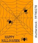 halloween spiderweb background | Shutterstock .eps vector #59780278