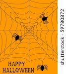 raster halloween spiderweb... | Shutterstock . vector #59780872