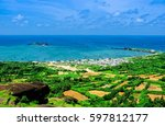 beautiful view of phu quy...   Shutterstock . vector #597812177