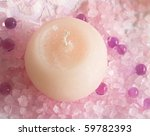 pink candle in arrangement | Shutterstock . vector #59782393