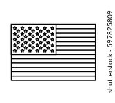 figure united states flag icon  ... | Shutterstock .eps vector #597825809