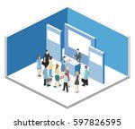 vector exhibition or promotion... | Shutterstock .eps vector #597826595