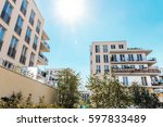 residential architecture in... | Shutterstock . vector #597833489
