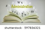 education concept. open book... | Shutterstock . vector #597836321