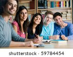 happy group of young students... | Shutterstock . vector #59784454