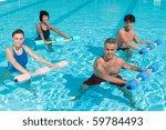 happy active fitness people... | Shutterstock . vector #59784493