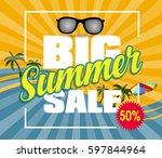 summer sale design template... | Shutterstock .eps vector #597844964