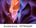 lower antelope canyon  page ... | Shutterstock . vector #597846689