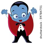 cartoon vampire kid | Shutterstock .eps vector #59784751