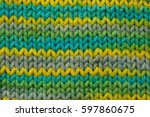 Knitted Fabric Background...