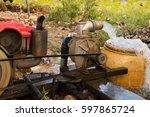 water flow from motor water pump | Shutterstock . vector #597865724
