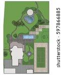 landscaping master plan  2d... | Shutterstock . vector #597866885