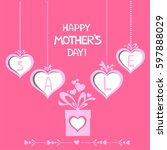 happy mother day background....   Shutterstock .eps vector #597888029