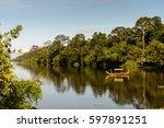 river near  the gate into... | Shutterstock . vector #597891251