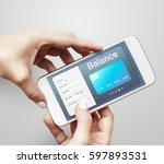 convergence life online... | Shutterstock . vector #597893531