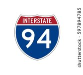 interstate 94  highway road... | Shutterstock .eps vector #597894785