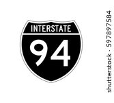 interstate 94  highway road... | Shutterstock .eps vector #597897584