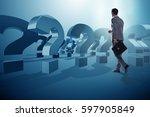 businessman in uncertainty...   Shutterstock . vector #597905849