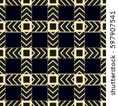 brown with black patterns on... | Shutterstock .eps vector #597907541