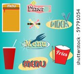 a set of retro themed diner... | Shutterstock .eps vector #59791054