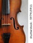violin. profile violin. four... | Shutterstock . vector #597915911