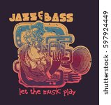 design jazz and bass  let the... | Shutterstock .eps vector #597924449