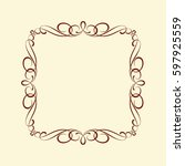 frames .vintage vector.well... | Shutterstock .eps vector #597925559
