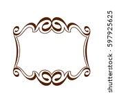 decorative frames .vintage... | Shutterstock .eps vector #597925625