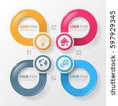 vector elements for infographic.... | Shutterstock .eps vector #597929345