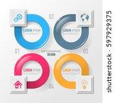 vector elements for infographic.... | Shutterstock .eps vector #597929375