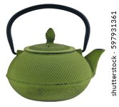 chinese green iron traditional... | Shutterstock . vector #597931361