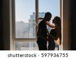 expressing true lovely emotions ... | Shutterstock . vector #597936755