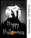 halloween vector  eps10 ... | Shutterstock .eps vector #59793715