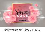 spring sale background layout... | Shutterstock .eps vector #597941687