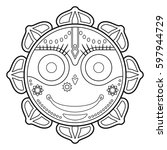 jagannath  indian god of the... | Shutterstock .eps vector #597944729