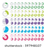 set of pie chart infographic... | Shutterstock .eps vector #597948107