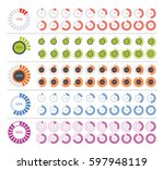 set of diagram infographic...   Shutterstock .eps vector #597948119