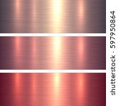 metal textures pink and red...   Shutterstock .eps vector #597950864