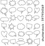 set of  30 blank effects... | Shutterstock .eps vector #597954569