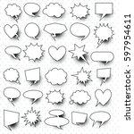 set of  30 blank effects...   Shutterstock .eps vector #597954611