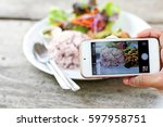 Take Photo Food By Mobile Phone.