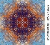 seamless background pattern.... | Shutterstock .eps vector #597971639